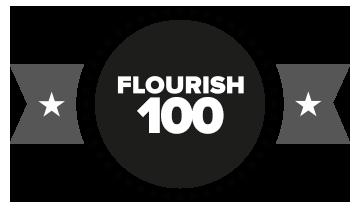 flourish-100-logo